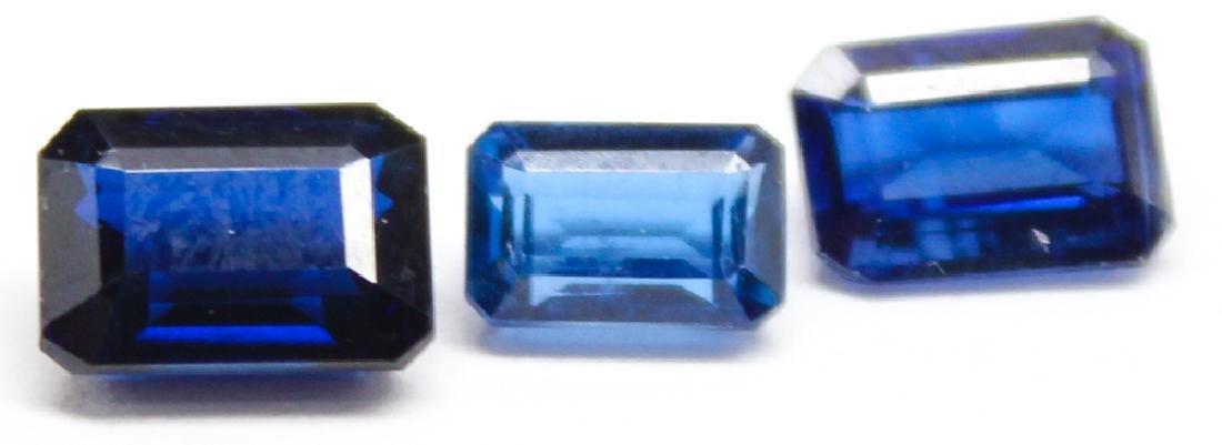 .40CT & TWO .93CT BLUE KYANITE GEMSTONES