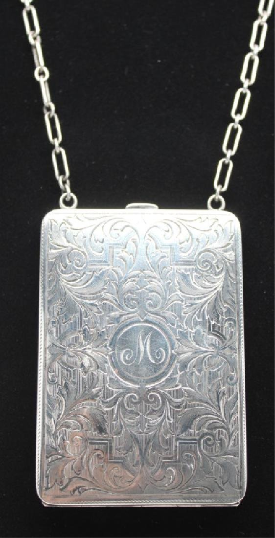 ELGIN STERLING SILVER COMPACT PURSE