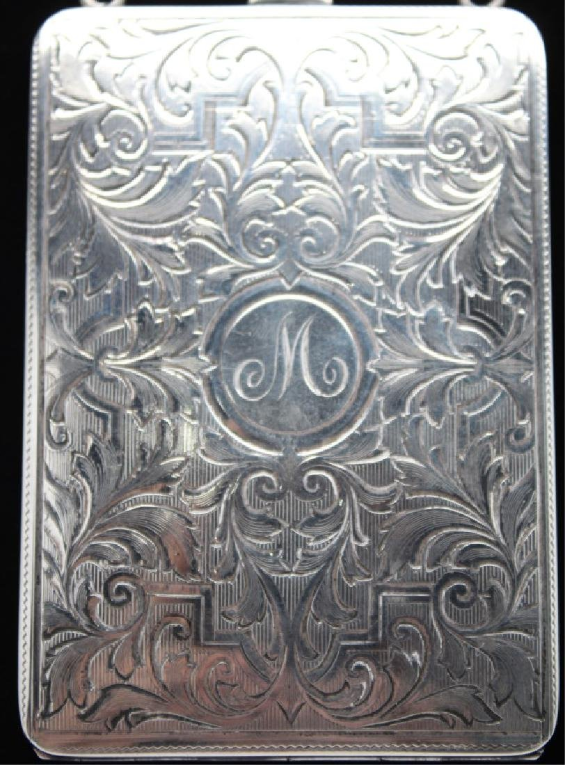 ELGIN STERLING SILVER COMPACT PURSE - 2