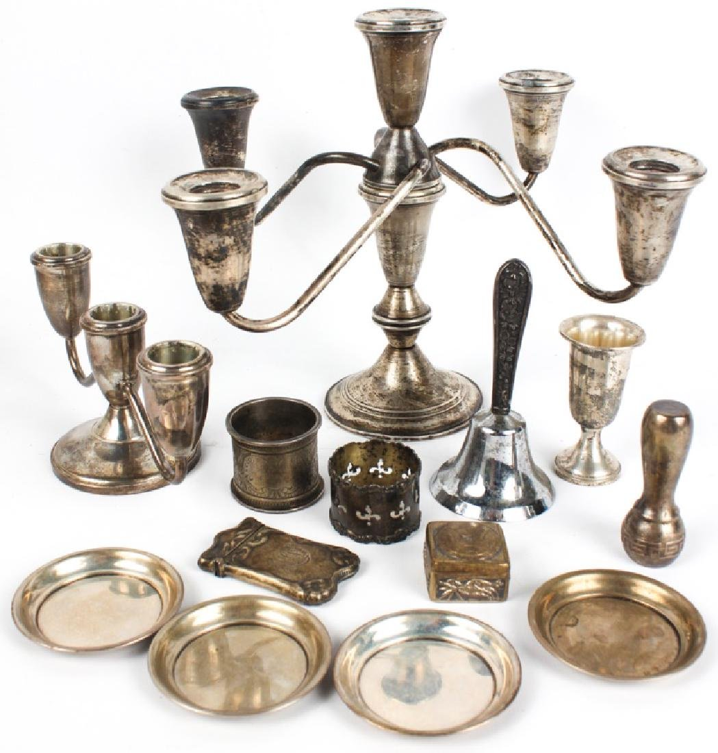 STERLING SILVER - CANDELABRAS, COASTERS & MORE
