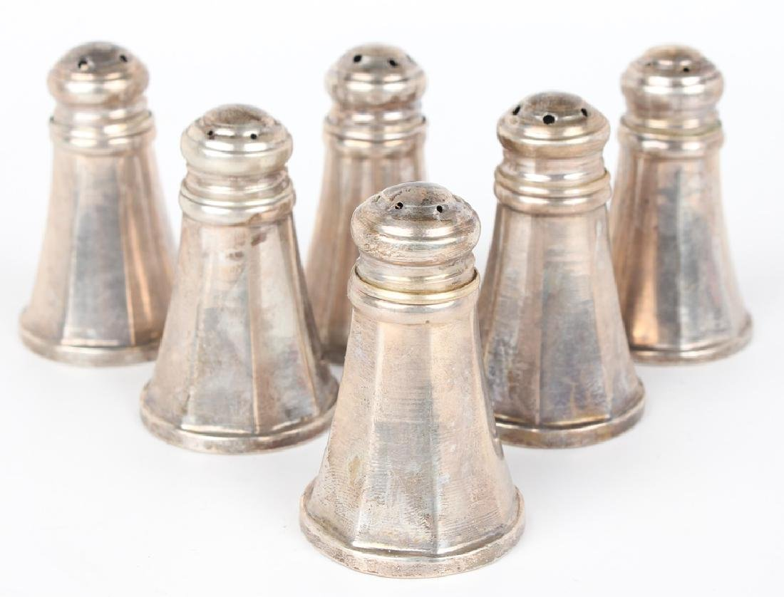 STERLING SILVER SALT & PEPPER SHAKERS - LOT OF 6