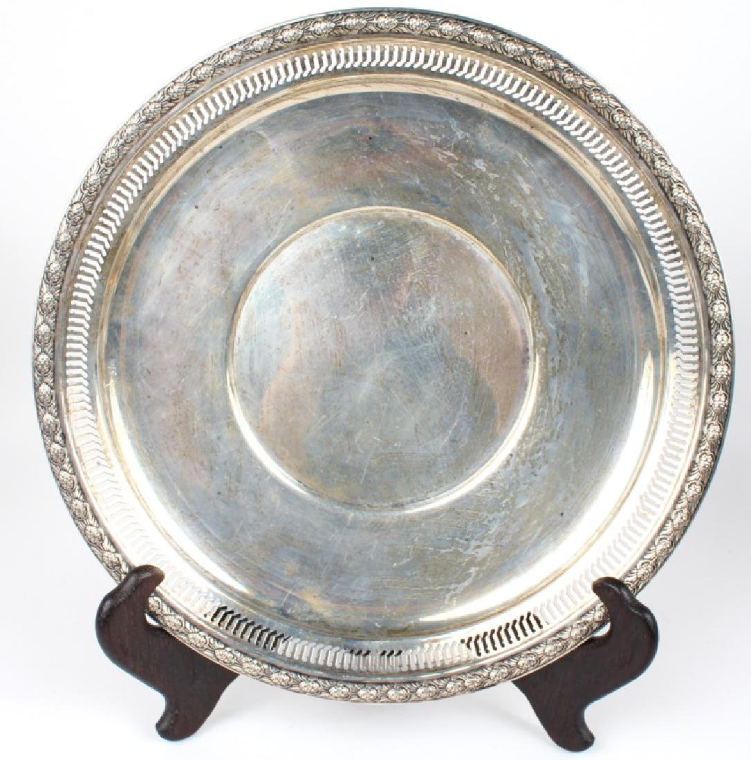 INTERNATIONAL STERLING SILVER RETICULATED PLATE