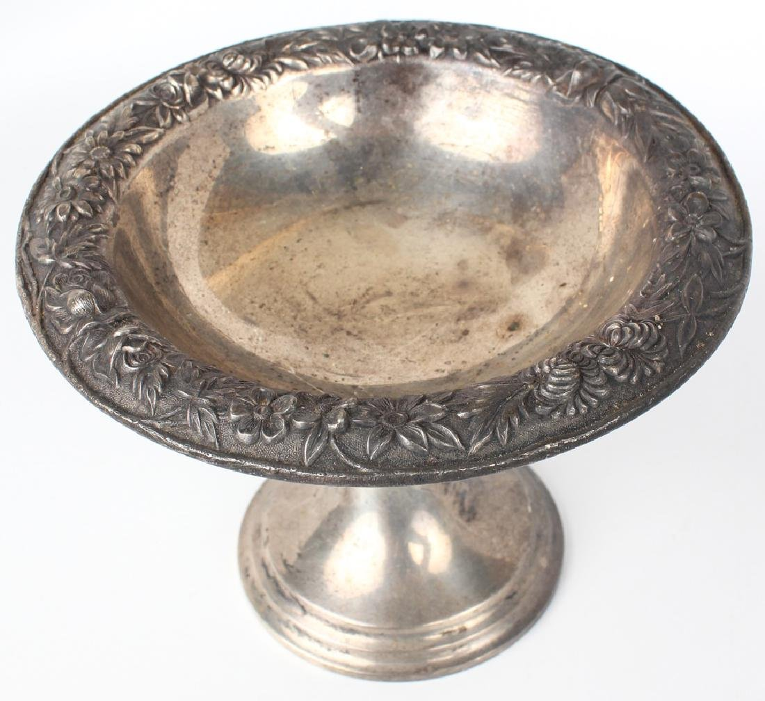 S. KIRK & SON STERLING SILVER FLORAL COMPOTE 437F - 2