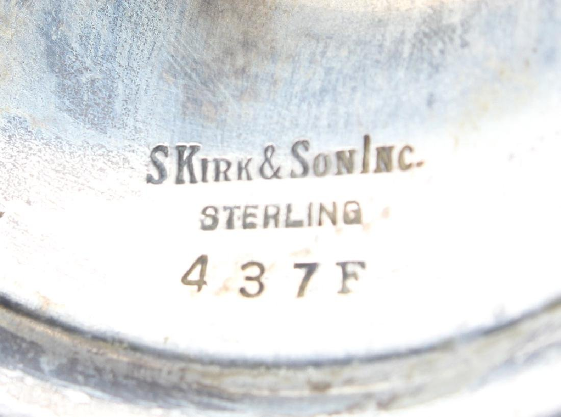 S. KIRK & SON STERLING SILVER FLORAL COMPOTE 437F - 3