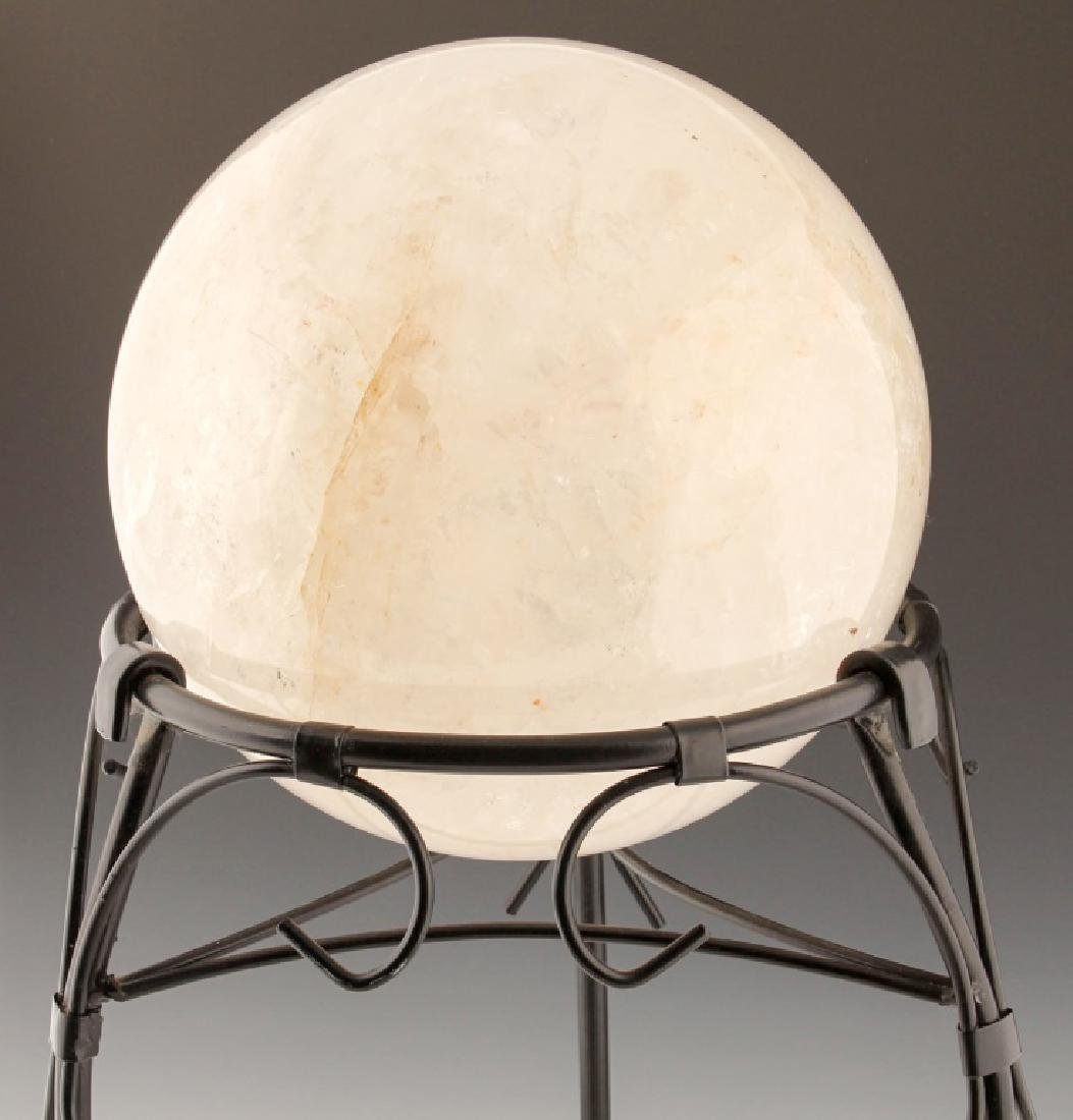 QUARTZ ROCK CRYSTAL SPHERE WITH STAND - 2