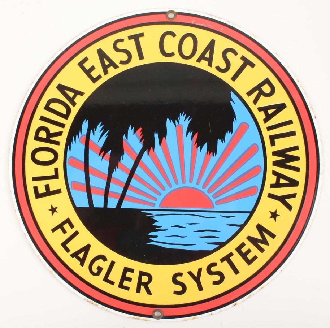 FLORIDA EAST COAST RAILWAY FLAGLER SYSTEM SIGN