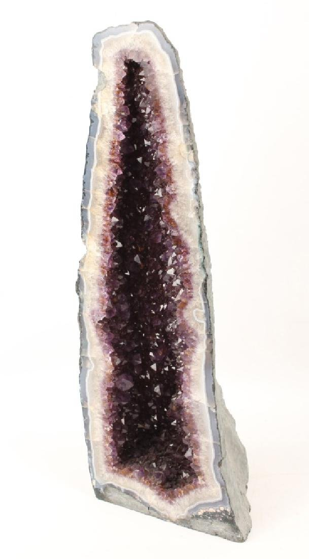 LARGE AMETHYST CATHEDRAL GEODE