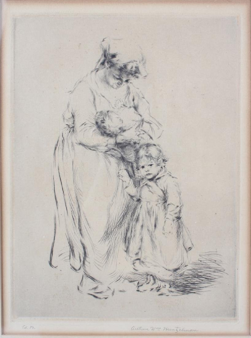 """FAMILIE SWISSE"" ETCHING BY ARTHUR HEINTZELMAN - 2"