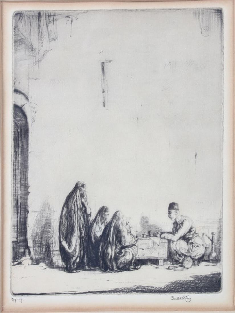 THE LETTER WRITER BAGHDAD-CHARLES CAIN ETCHING - 2