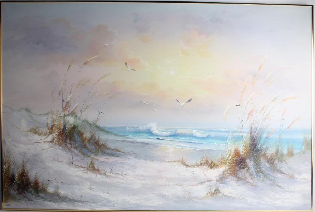 J THOMPSON SEASCAPE OIL ON CANVAS