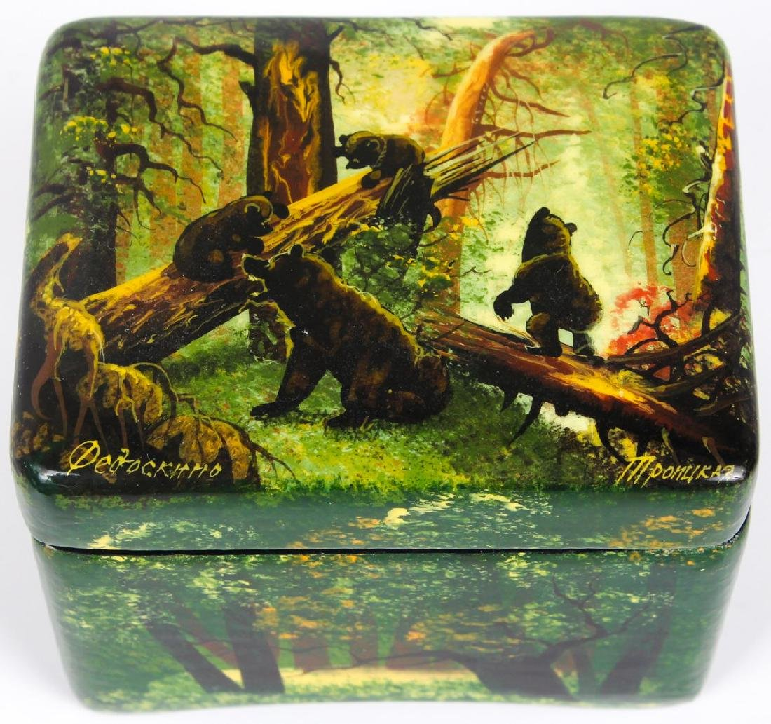 RUSSIAN HAND PAINTED LACQUER BOX