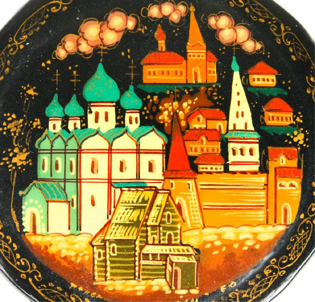 RUSSIAN HAND PAINTED LACQUER BOX - 2