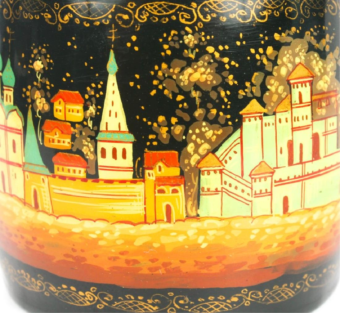 RUSSIAN HAND PAINTED LACQUER BOX - 3