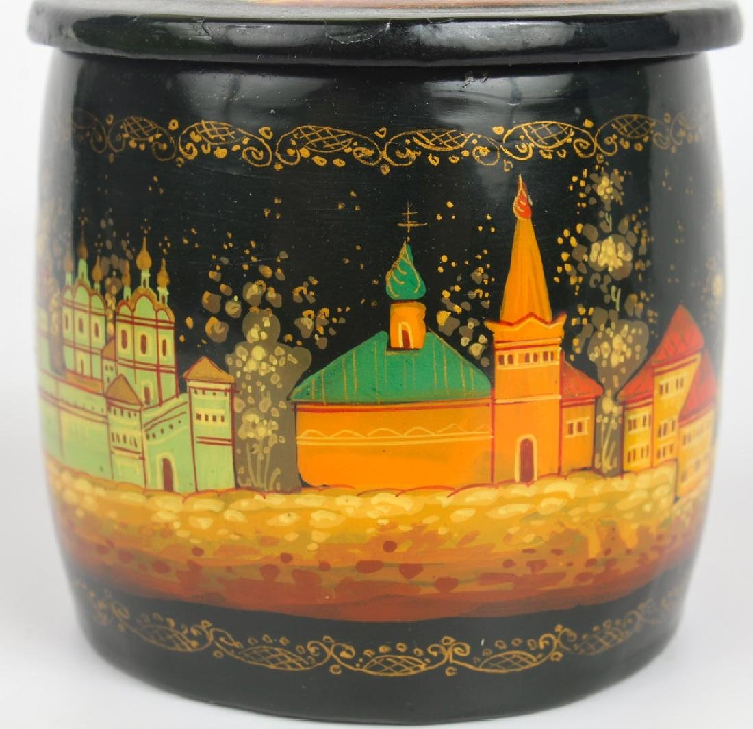 RUSSIAN HAND PAINTED LACQUER BOX - 4