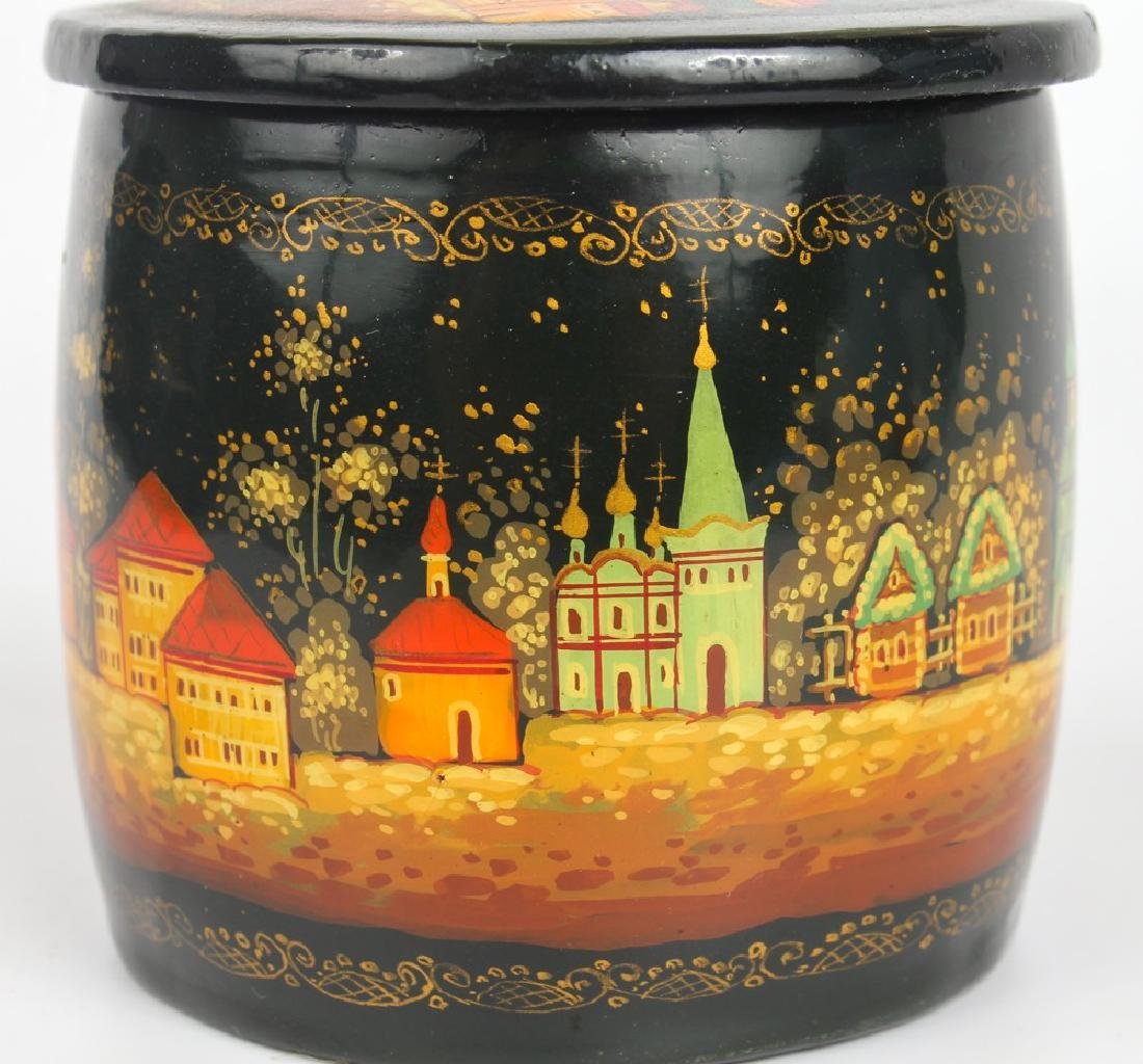 RUSSIAN HAND PAINTED LACQUER BOX - 5