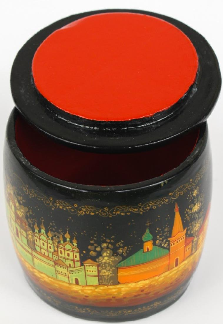 RUSSIAN HAND PAINTED LACQUER BOX - 6