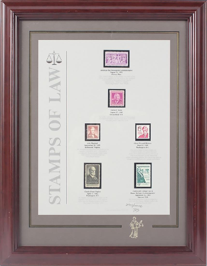 STAMPS OF LAW LIMITED EDITION FRAMED PRINT