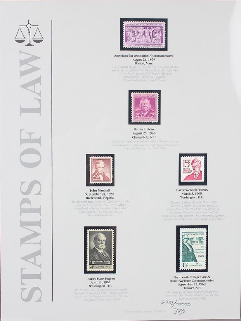 STAMPS OF LAW LIMITED EDITION FRAMED PRINT - 2