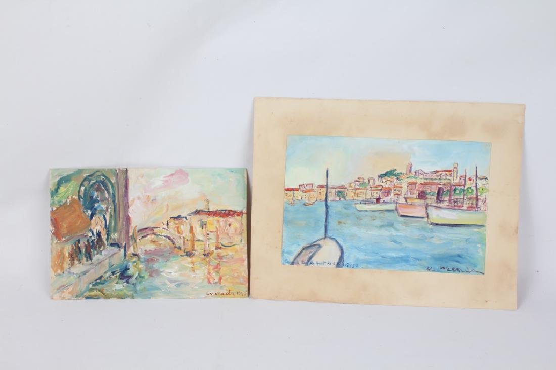 FRANCOIS OZENDA WATERCOLOR PAINTINGS - LOT OF 2