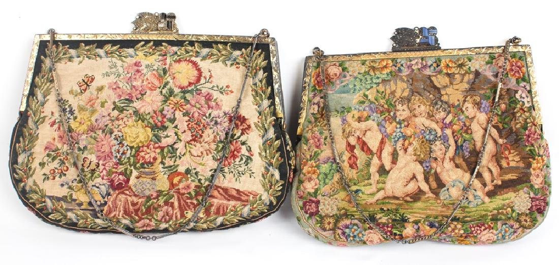 EMBROIDERED HANDBAGS - LOT OF 2
