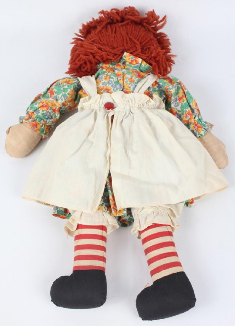 1938 RAGGEDY ANN DOLL W/ BLACK OUTLINED NOSE & BOX - 3
