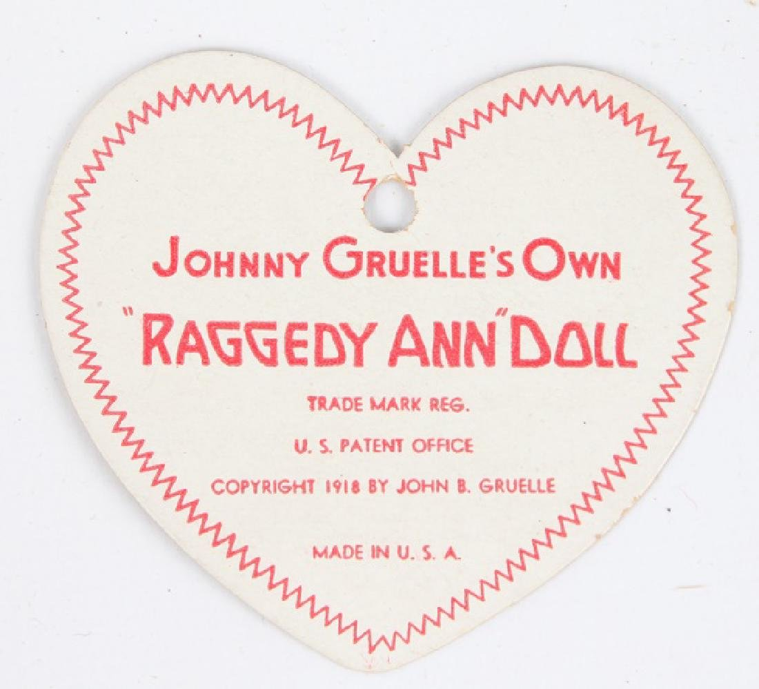 1938 RAGGEDY ANN DOLL W/ BLACK OUTLINED NOSE & BOX - 4