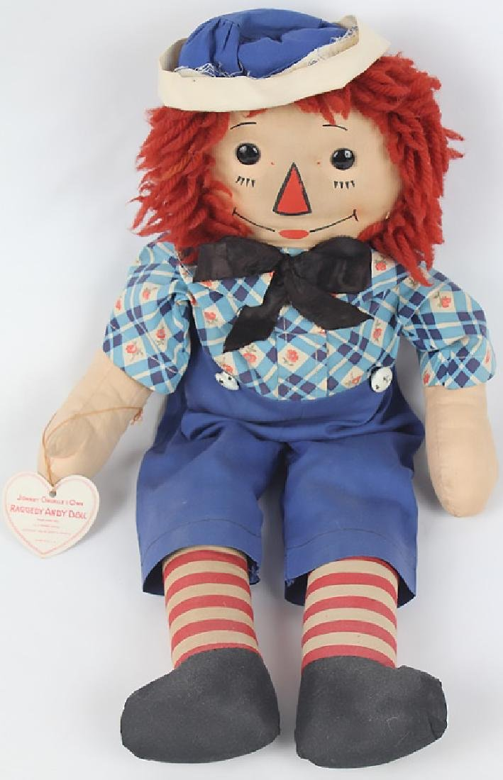 1938 RAGGEDY ANDY DOLL W/ OUTLINED NOSE & BOX - 2