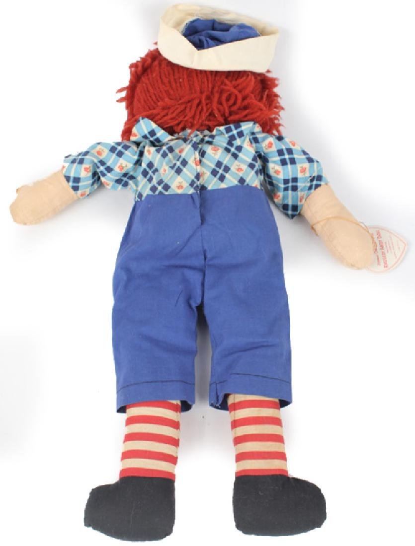 1938 RAGGEDY ANDY DOLL W/ OUTLINED NOSE & BOX - 3
