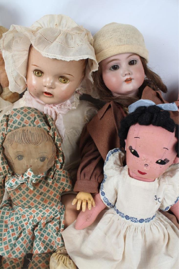 19TH & 20TH C. DOLLS & STUFFED ANIMALS - MIXED LOT - 2