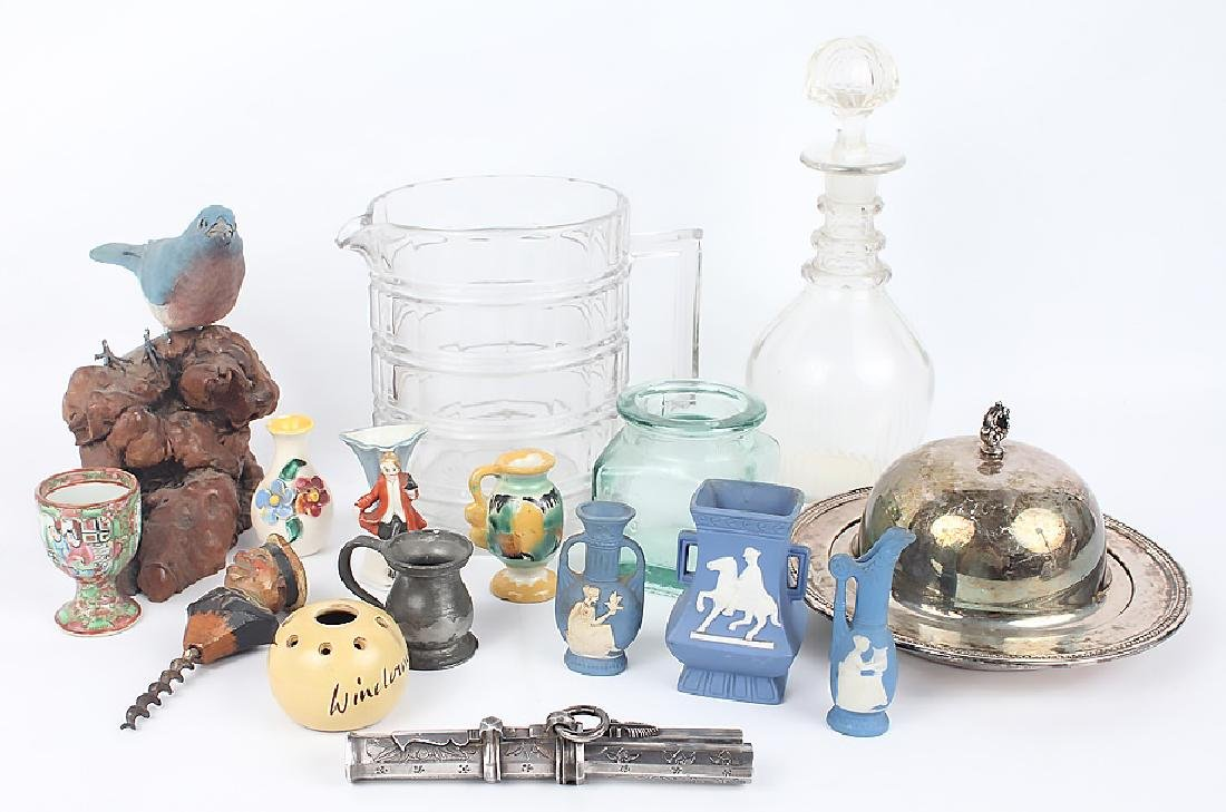 ASSORTED ESTATE ITEMS - GLASSWARE, POTTERY & OTHER