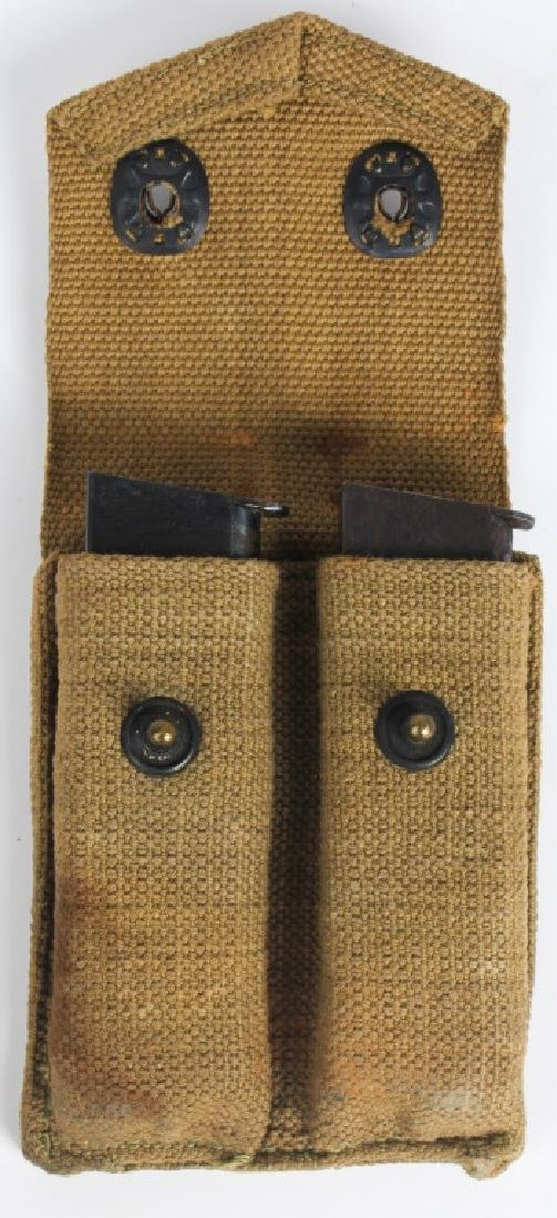 WWII COLT M1911 .45 CAL. MAGAZINES w/ BELT POUCH