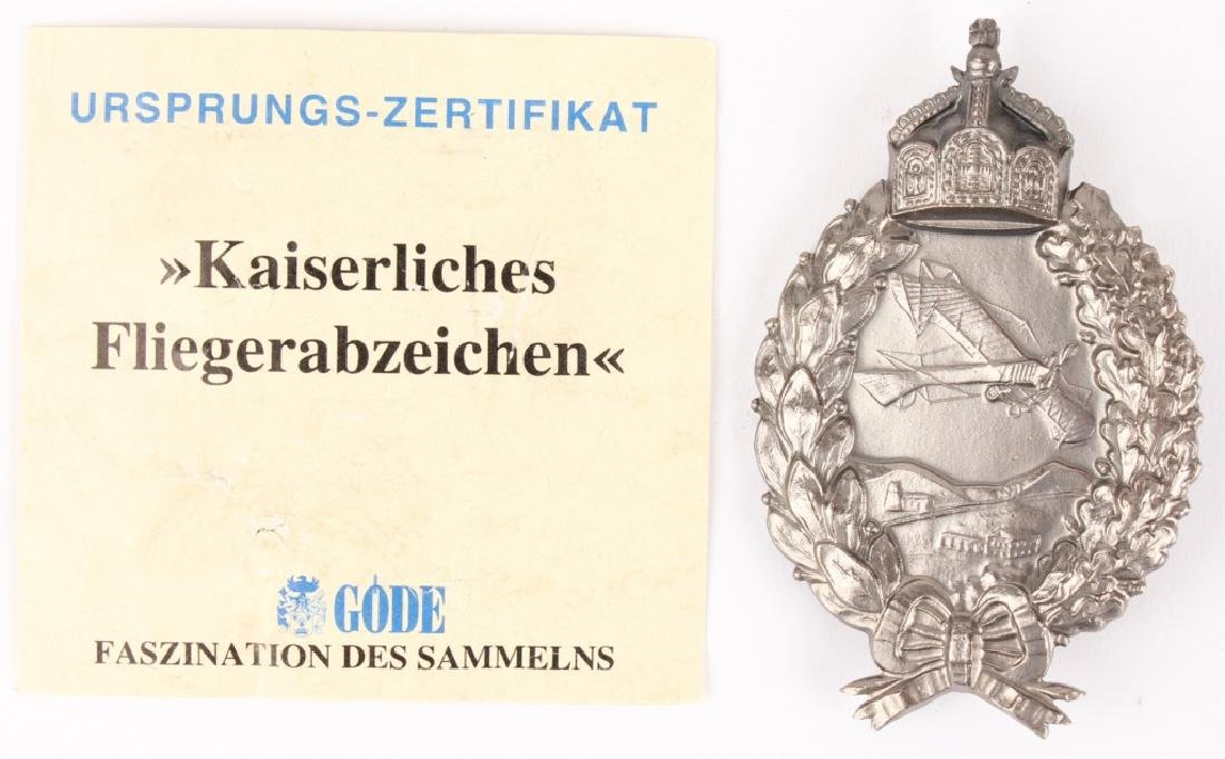 GERMAN WWI LUFTWAFFE PILOT BADGE