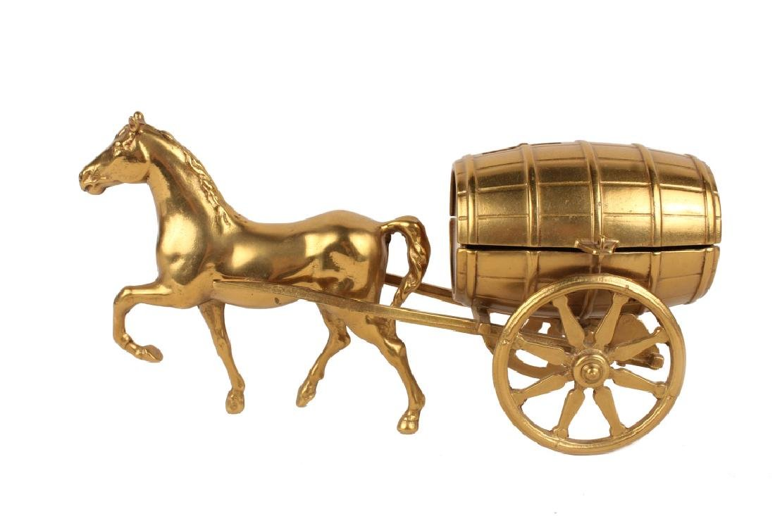 HORSE DRAWN CARRIAGE BRASS BANK