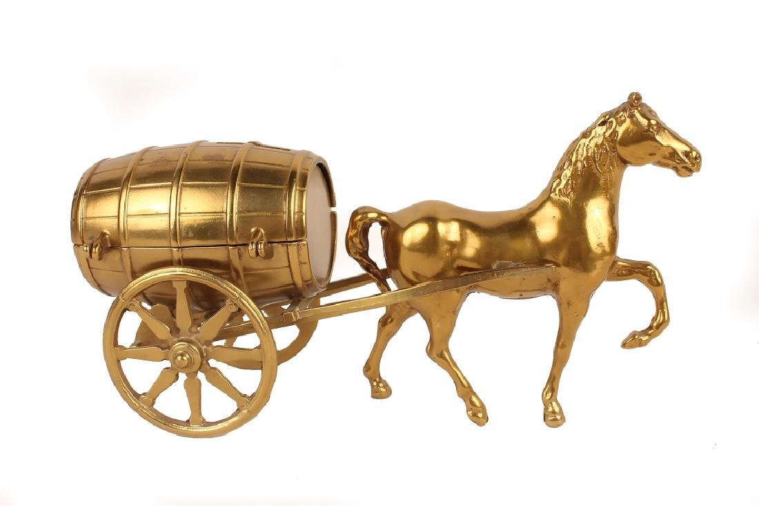 HORSE DRAWN CARRIAGE BRASS BANK - 2