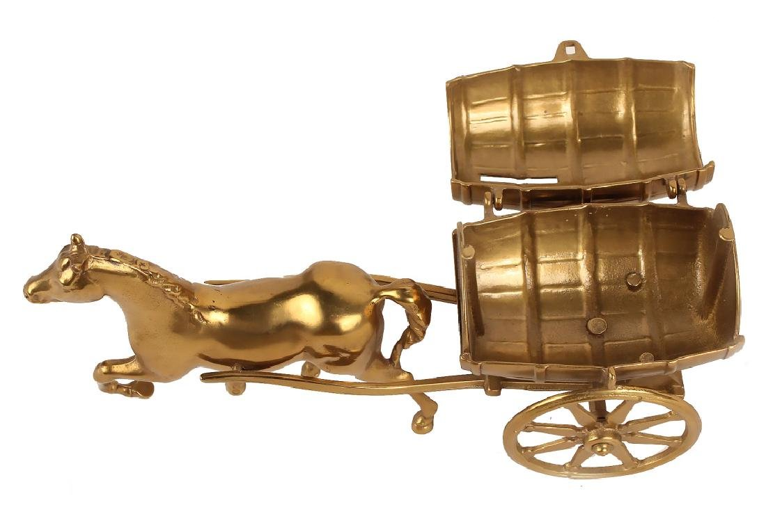 HORSE DRAWN CARRIAGE BRASS BANK - 5