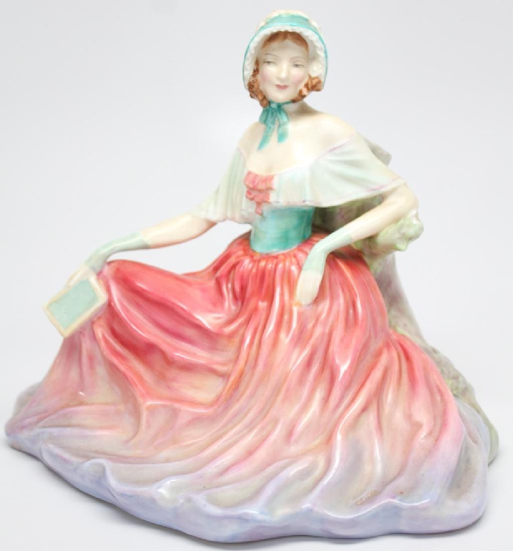 "ROYAL DOULTON RECLINING FIGURINE ""MEMORIES"""