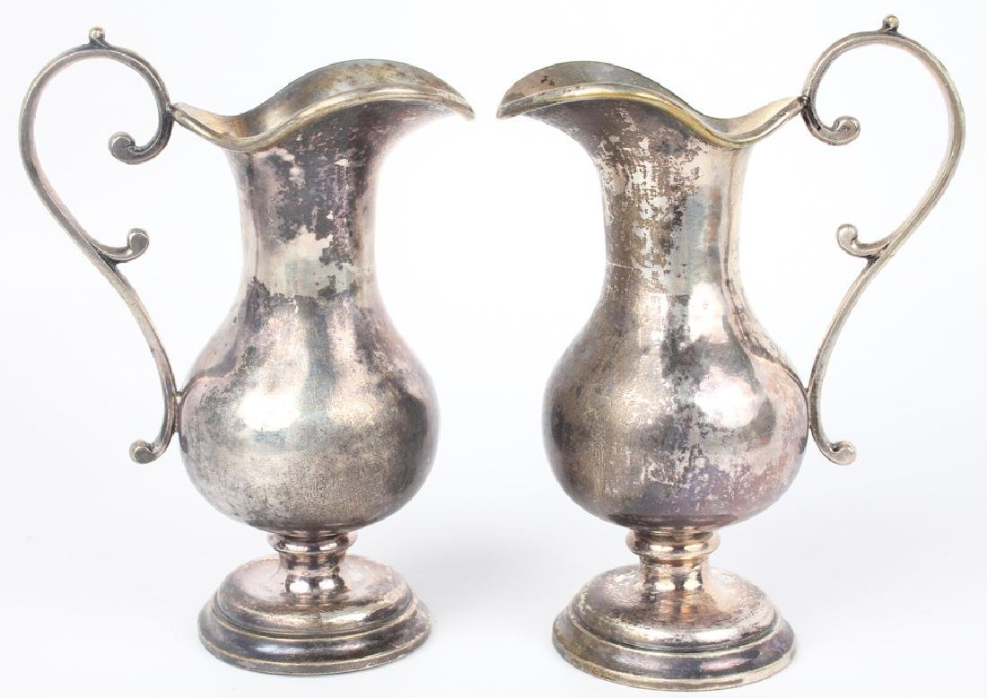 PAIR OF SMALL SIVER PLATED CREAMERS