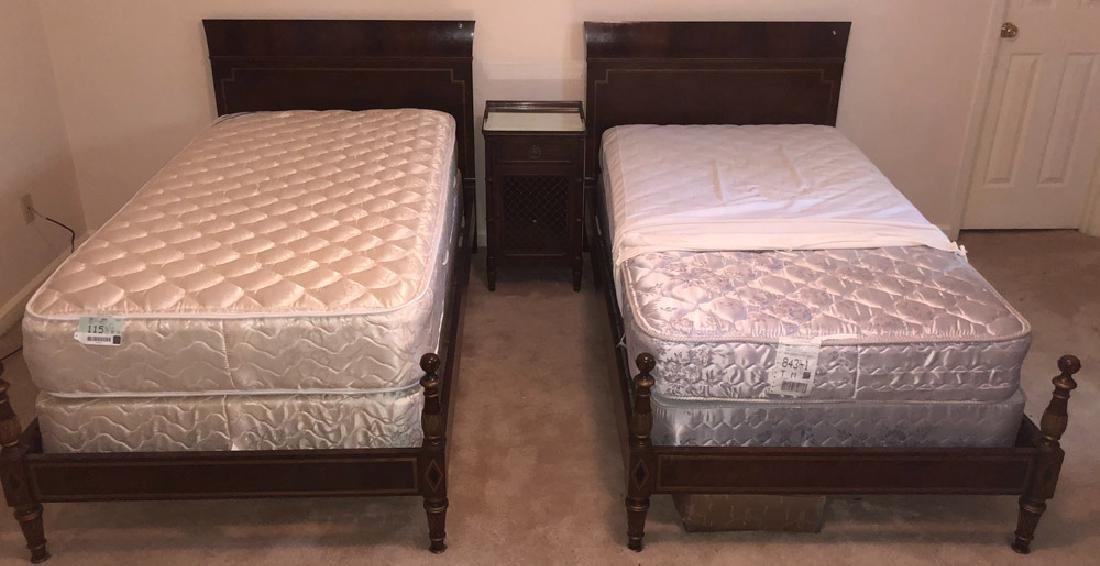 MAHOGANY BEDS & NIGHTSTAND by IRWIN FURNITURE
