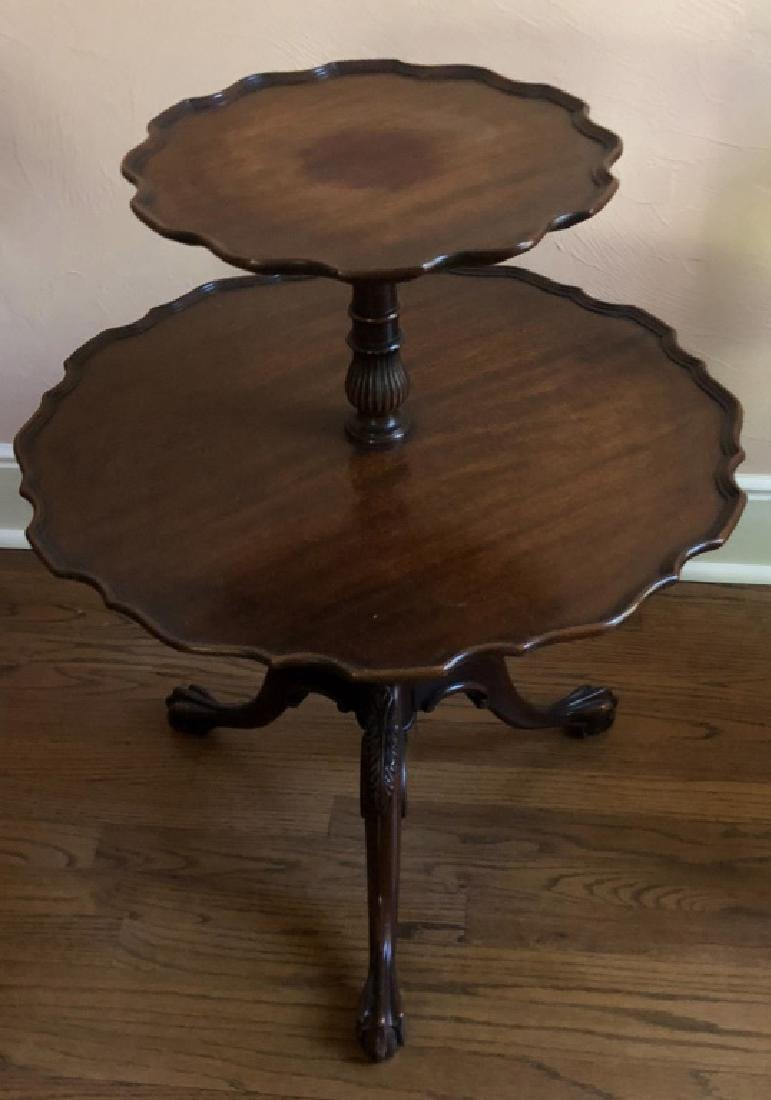 MAHOGANY OCCASIONAL TABLE 2-TIER