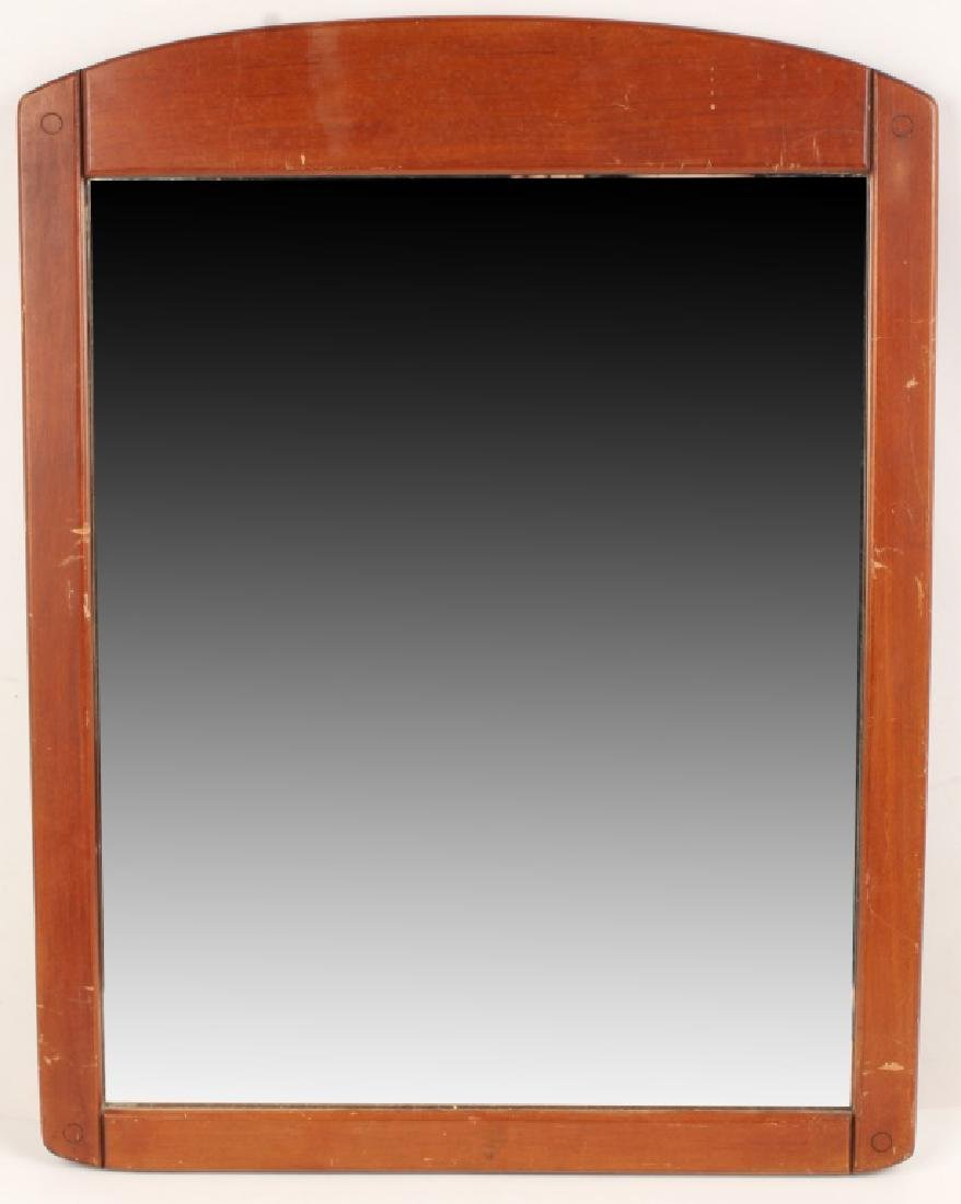 20TH CENTURY WOOD WALL MIRROR