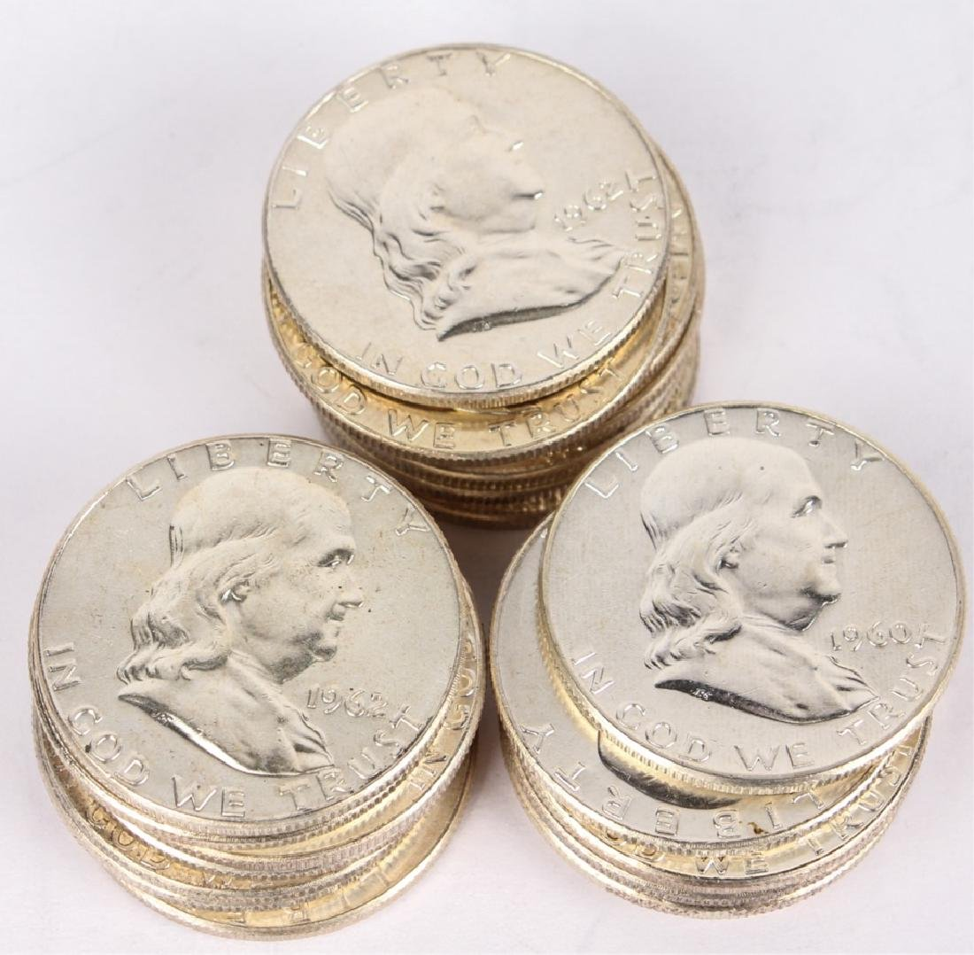 UNITED STATES BU ROLL OF 20 FRANKLIN HALF DOLLARS