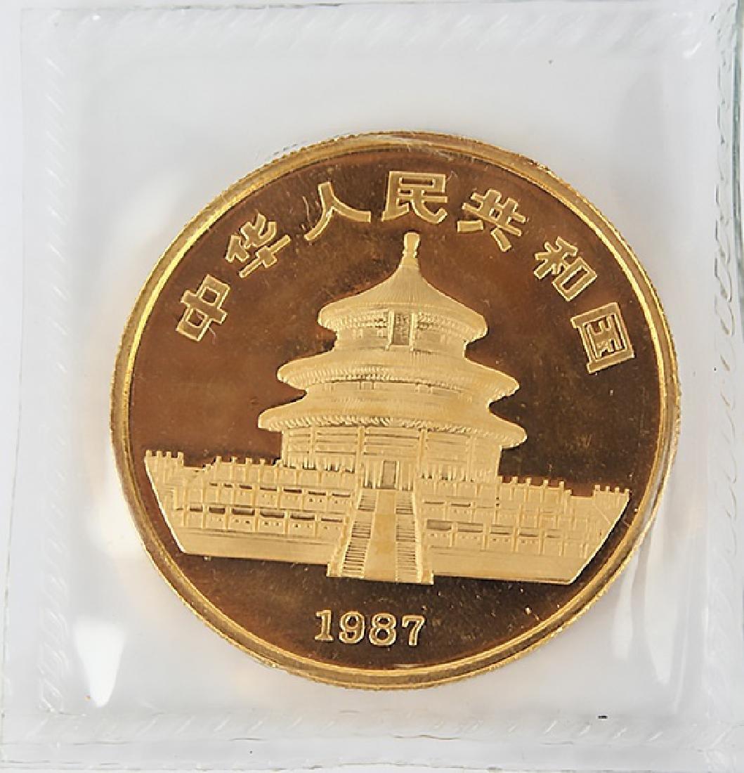 GOLD 1 OZ CHINA PANDA 100 YUAN 1987 S - SEALED - 2