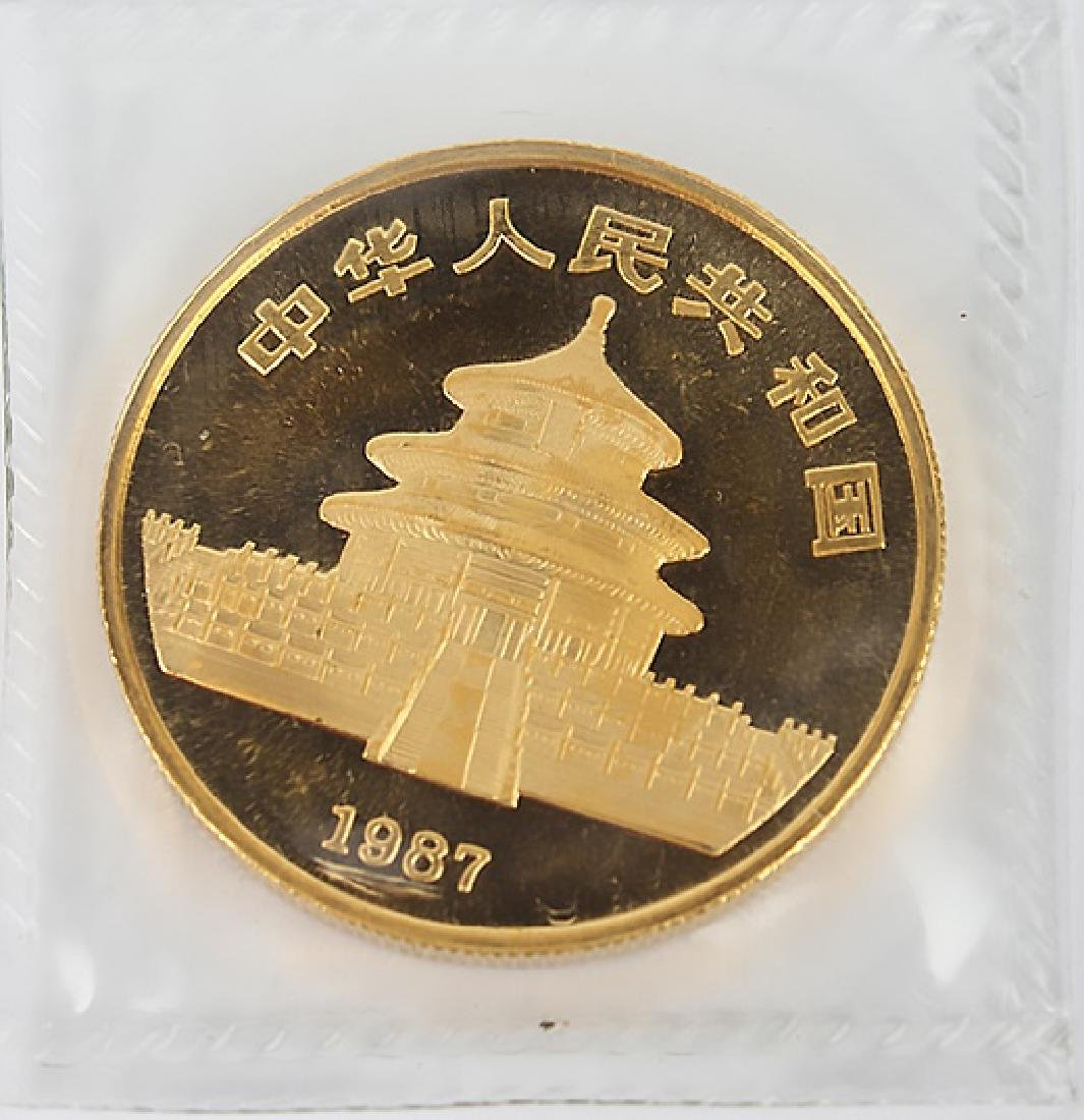 GOLD 1 OZ CHINA PANDA 100 YUAN 1987 S - SEALED - 2