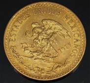 20 PESO MEXICAN 1917 GOLD COIN