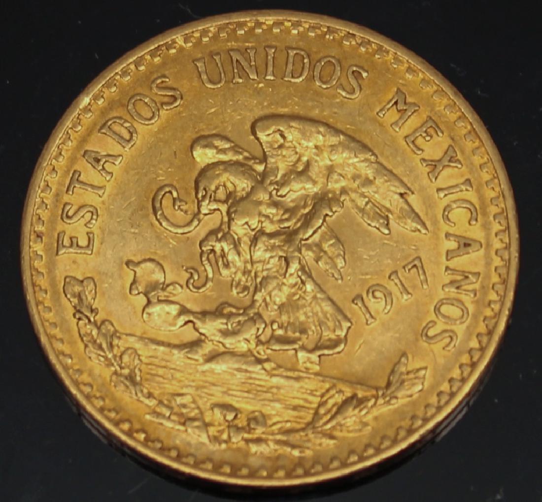 20 PESO MEXICAN 1917 GOLD COIN