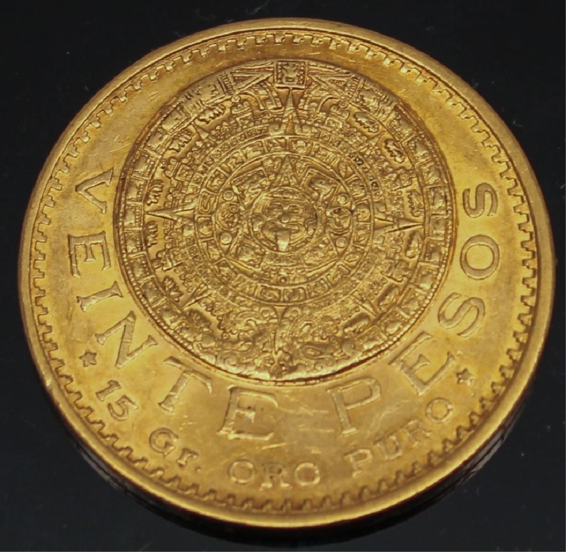 20 PESO MEXICAN 1917 GOLD COIN - 2