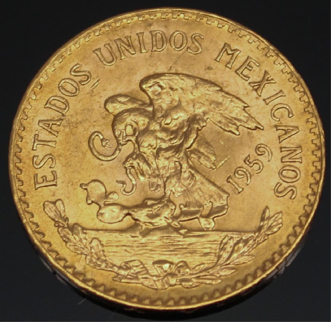 20 PESO MEXICAN 1959 GOLD COIN