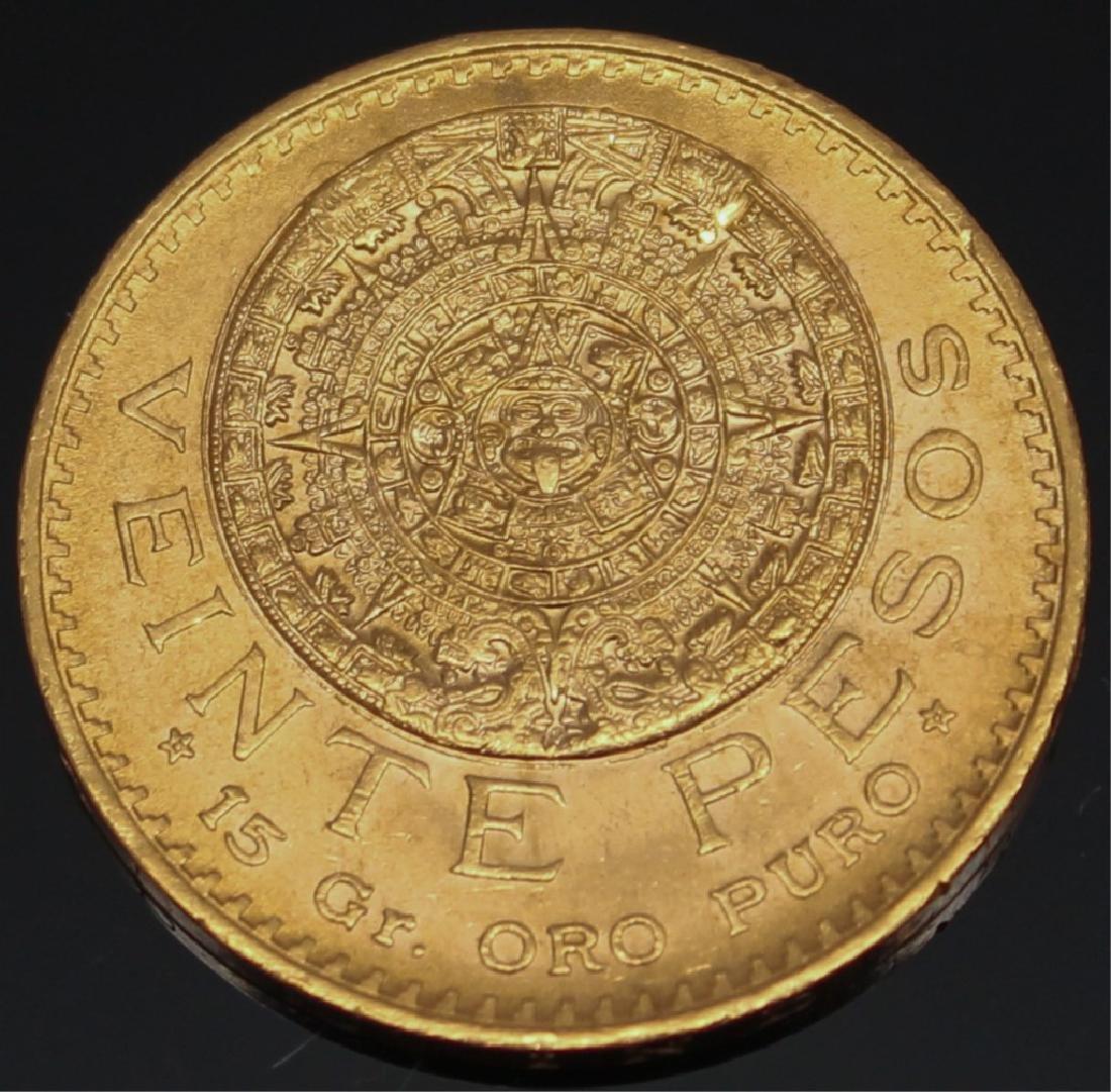 20 PESO MEXICAN 1959 GOLD COIN - 2