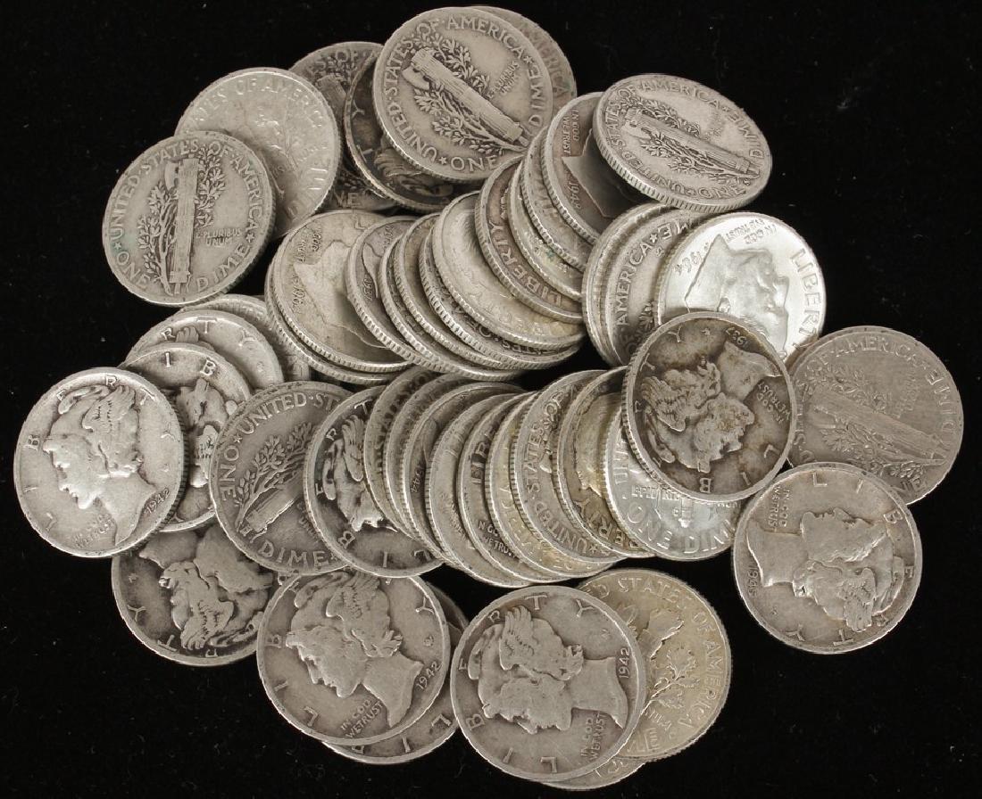 $5.00 UNITED STATES SILVER MERCURY DIMES