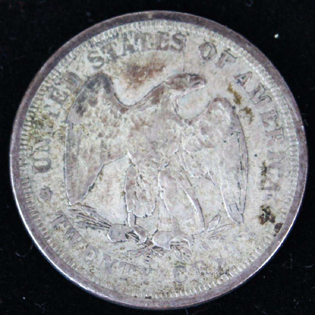 1875 S UNITED STATES SILVER TWENTY CENT PIECE - 2